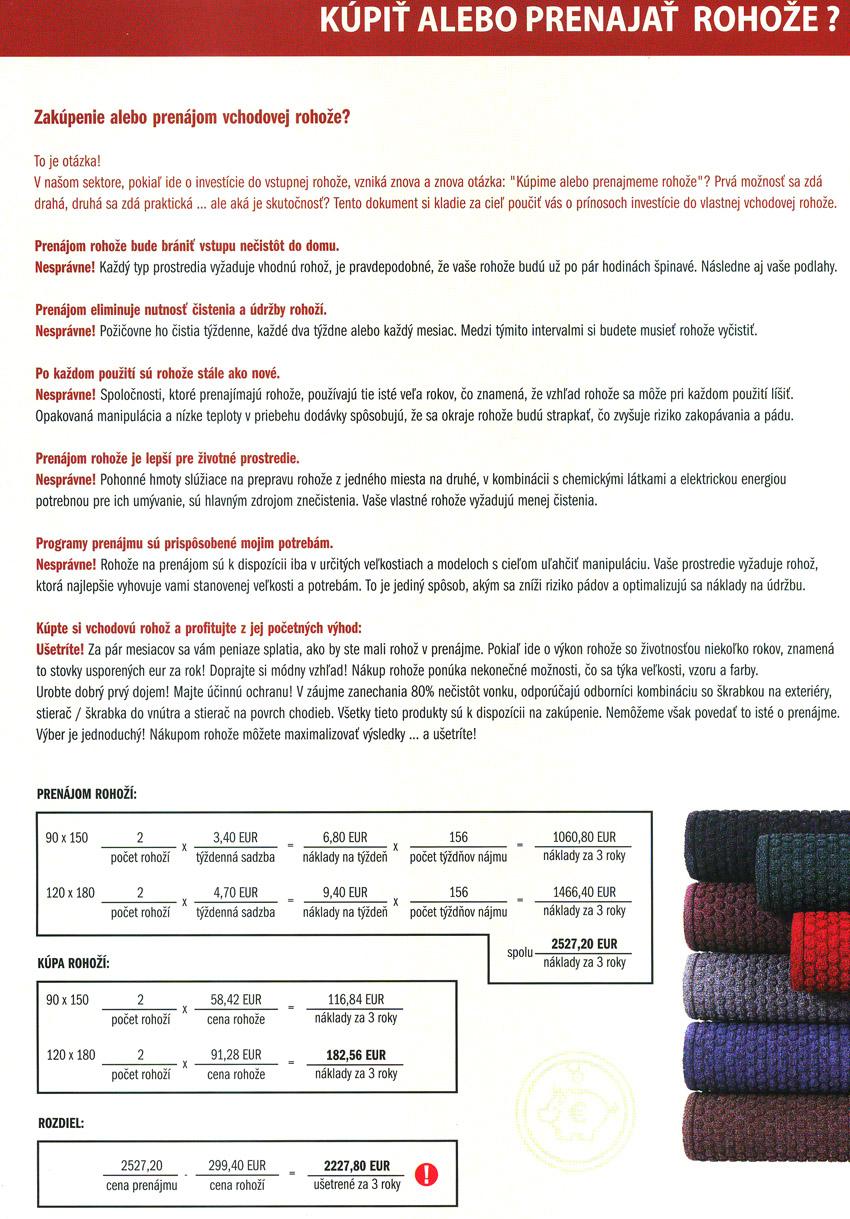 Fakty o rohožiach